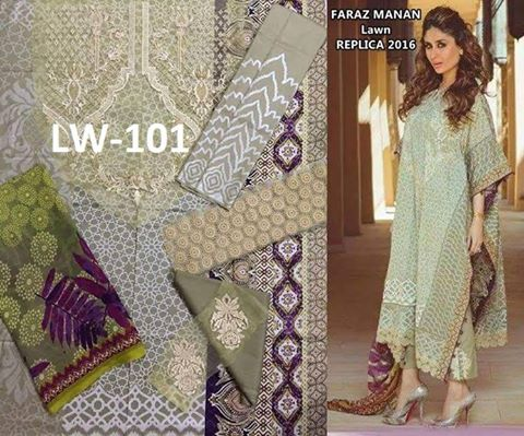 Faraz Manan Lawn Dress