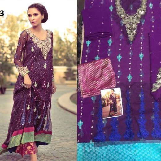 Tina Durrani Latest Chiffon Dress