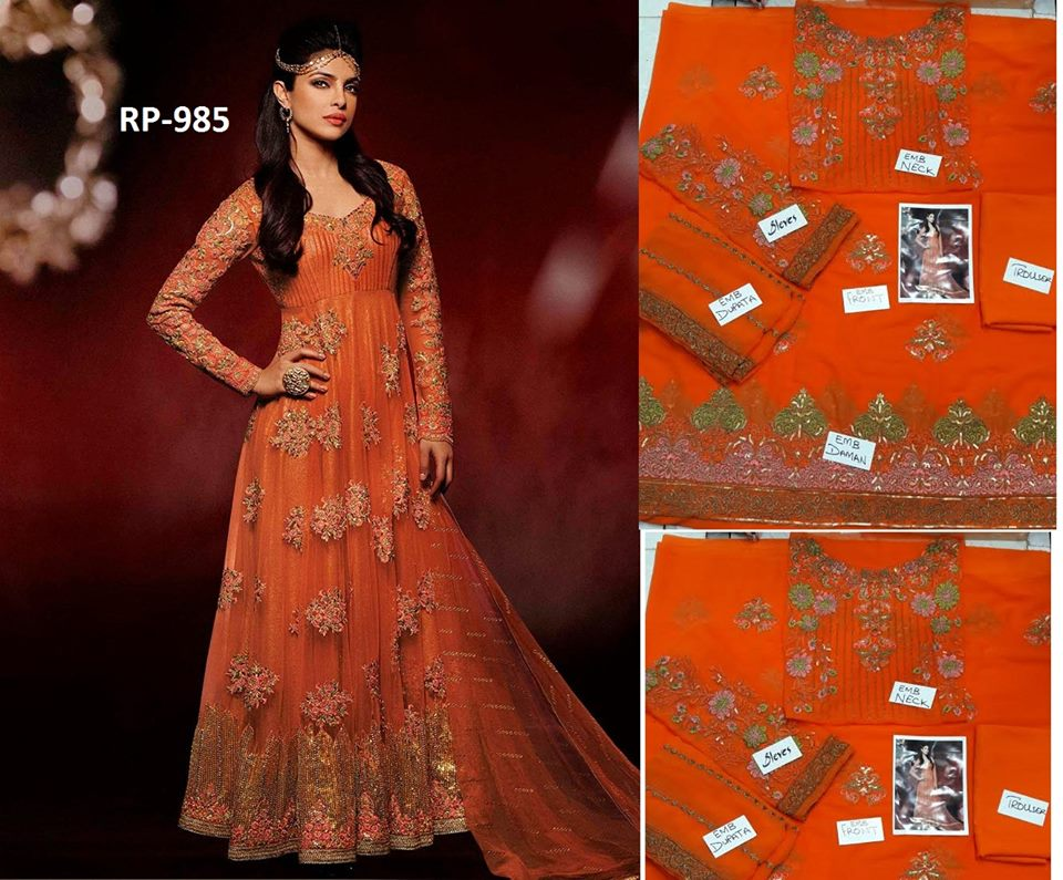 designer-wear-chiffon-dress-orange