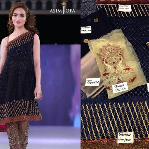Asim Jofa Embroidered Chiffon Collection 2016
