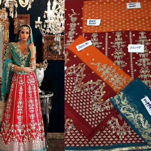 Latest Bridal Mehndi Dress 2017