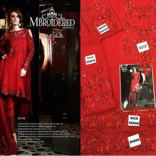 Maria B Mbroidered Chiffon Collection