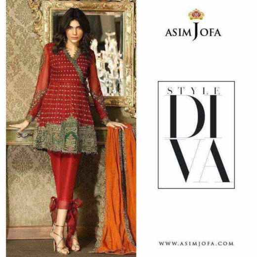 Latest Asim Jofa Fancy & Embroidered Dresses 2017