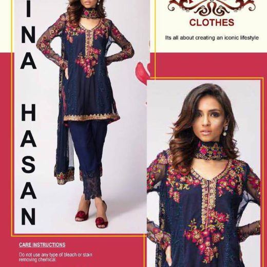 Mina Hassan chiffon Collection 2017