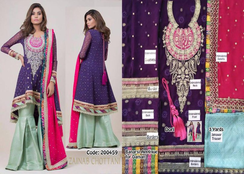 Zainab Chottani Wedding wear Collection 2017