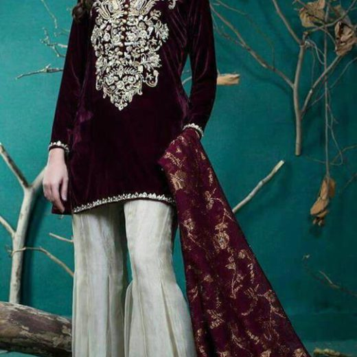 Zainab Chotani Velvet Dress 2018