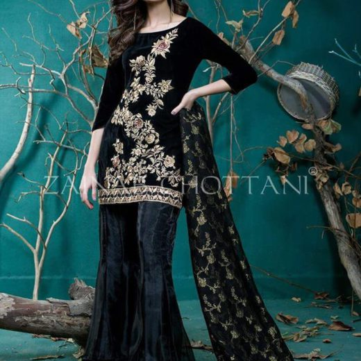 Zainab Chottani Velvet Dress 2018