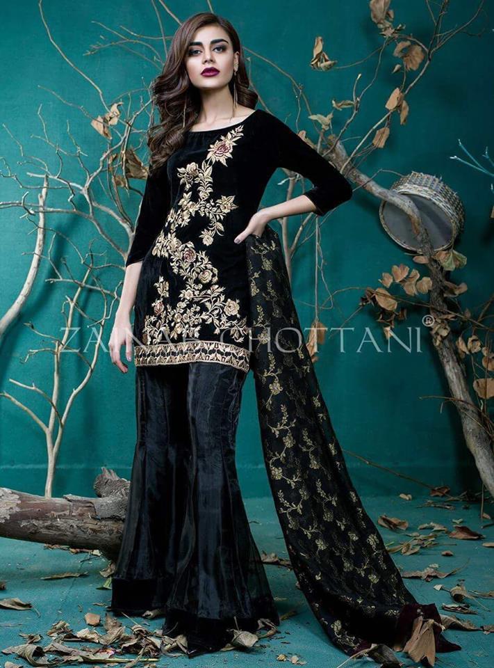 Zainab Chottani Velvet Dress 2018
