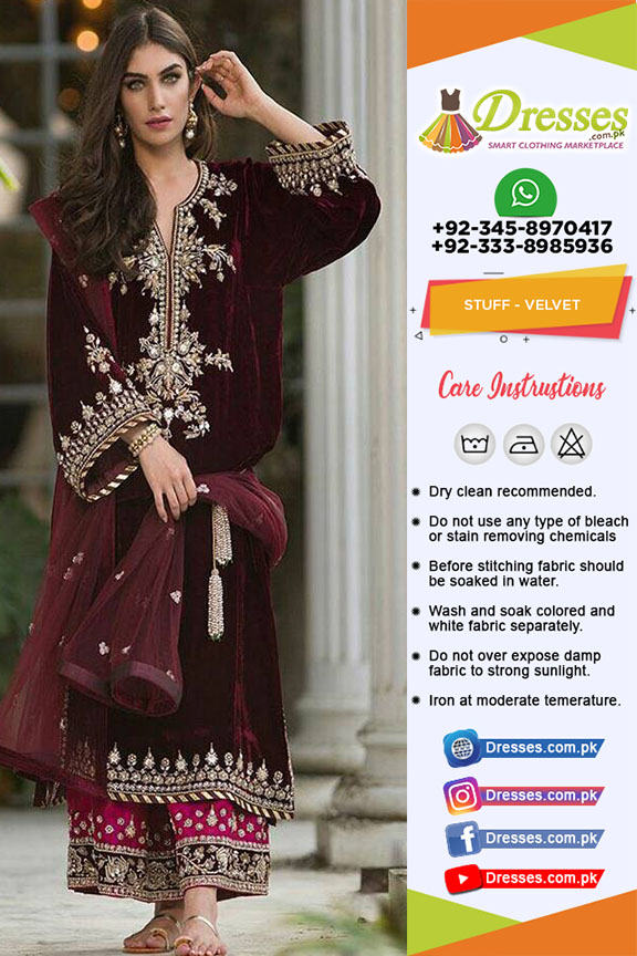 2e18b028e99 Sana Abbas Velvet And Bridal Dress 2018