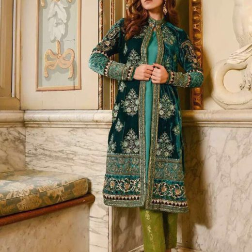 Riffat and Sana Velvet Dress Collection 2018