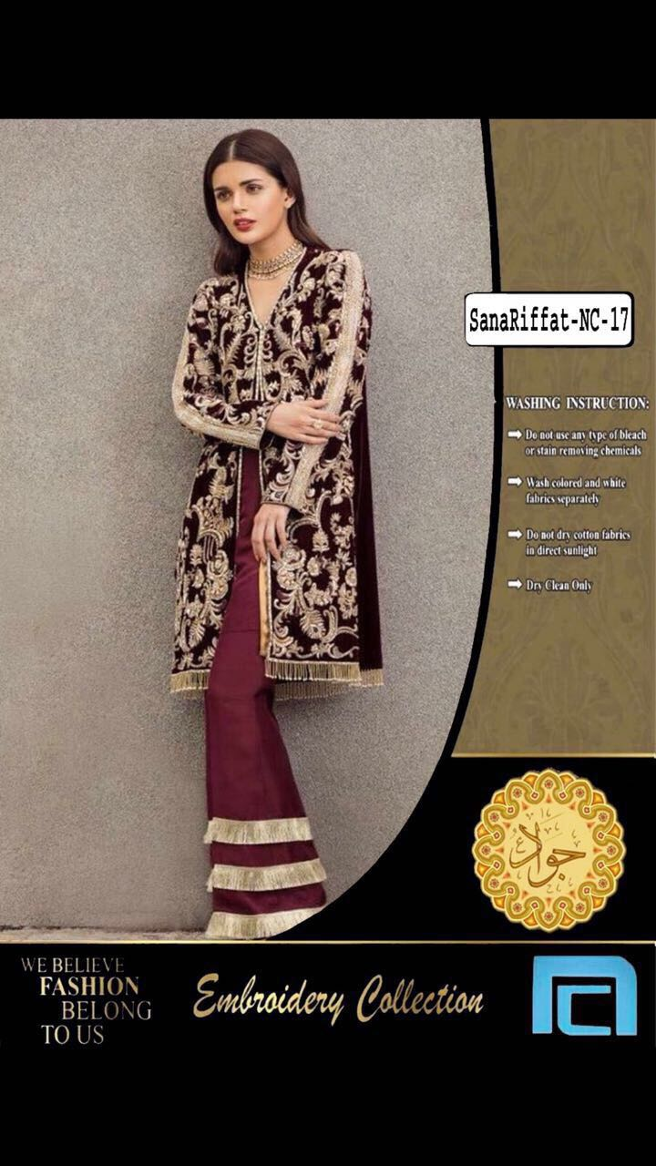 Riffat and Sana Velvet Collection 2018