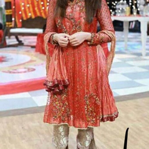 Shaista Lodhi Red Suit Collection 2018