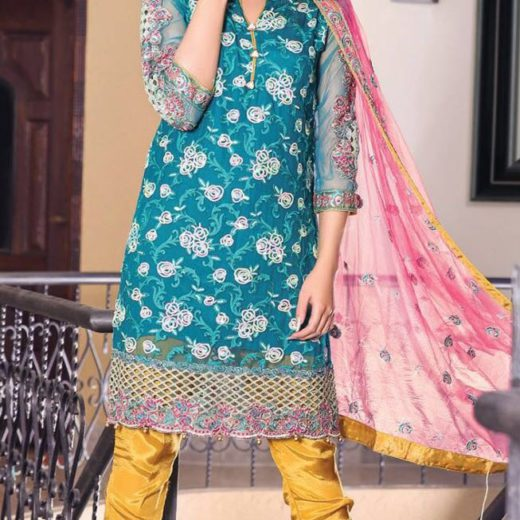 Maryam and Maria 3 Pcs Chiffon Suit