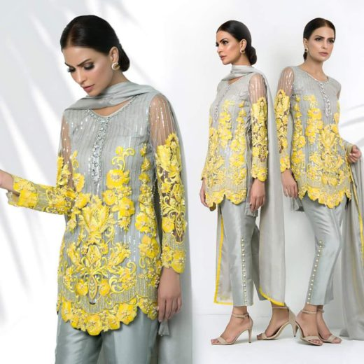 Nomi Ansari Latest Dress chiffon 2018