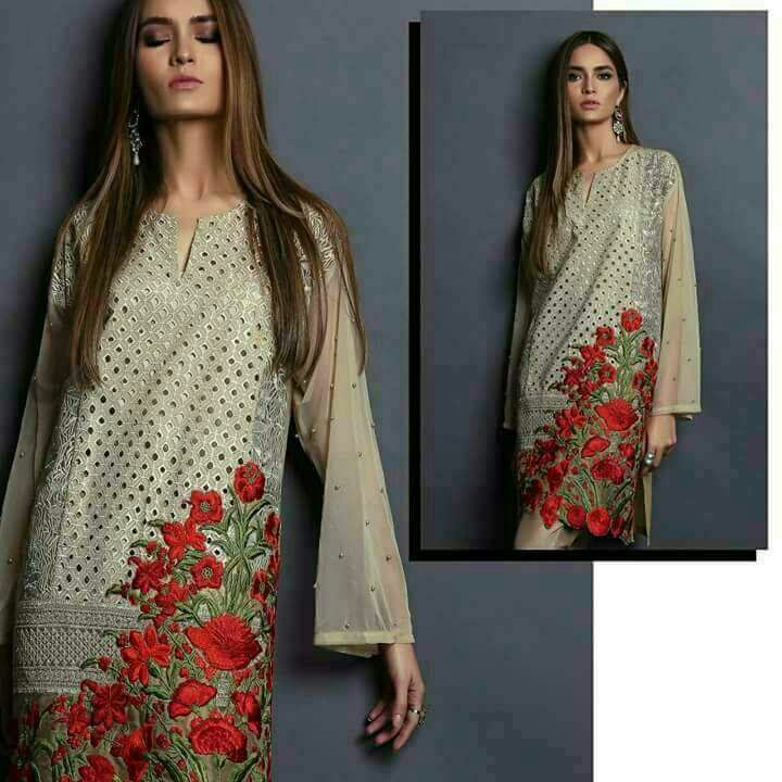 Sana Safinaz Chiffon Dress 2018