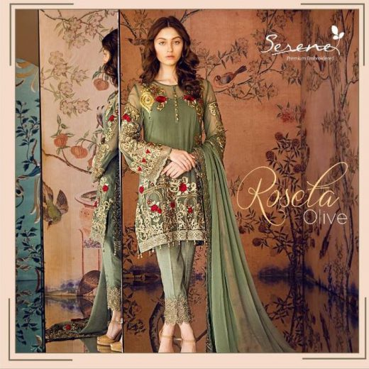 Serene Latest Chiffon Suit 2018
