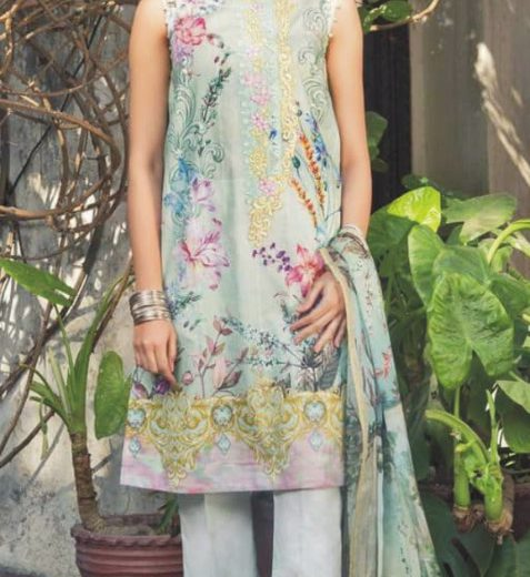Shphire Lawn Digital Suit 2018