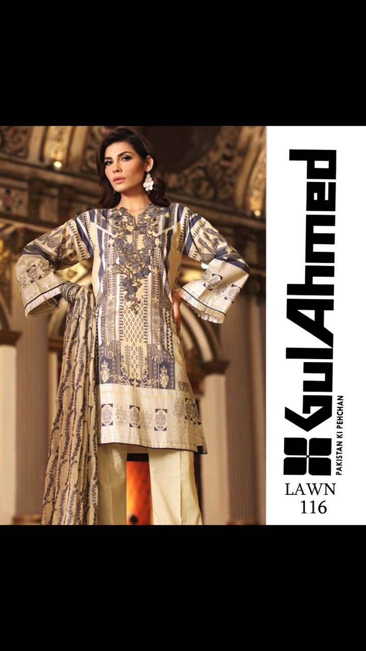 Gul Ahmed Lawn suit 2018