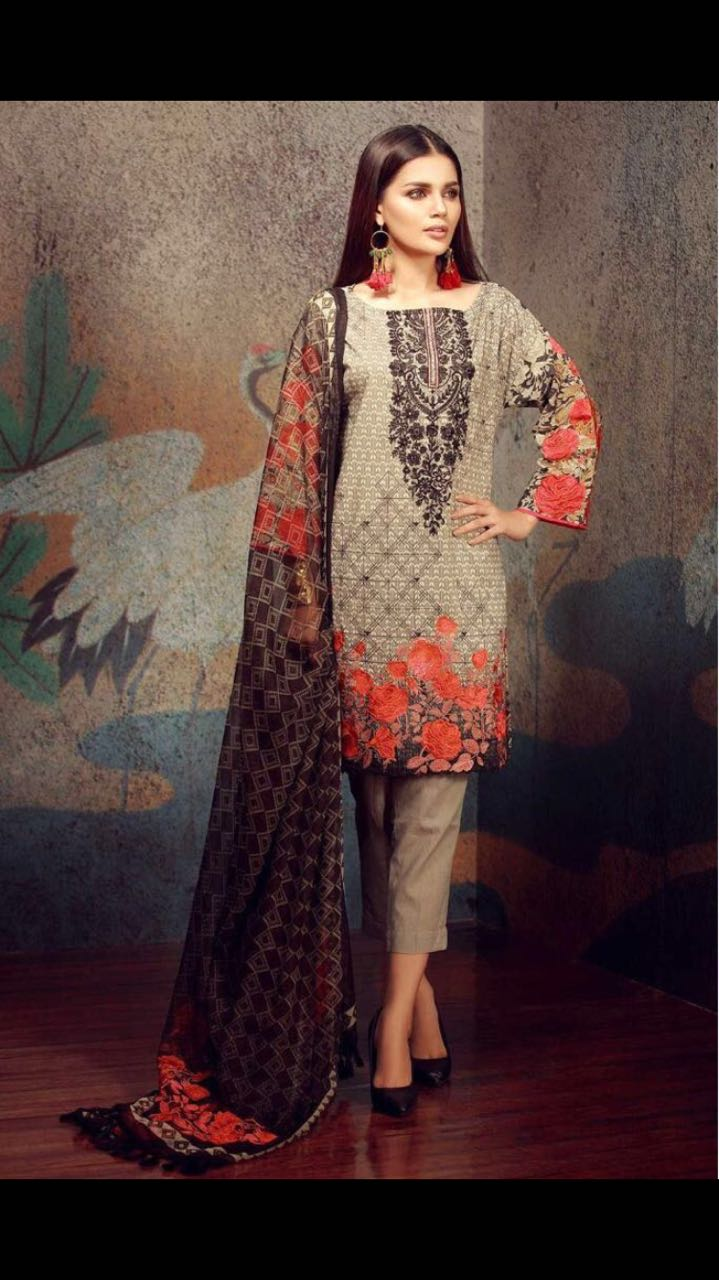 51bee45151 Khaadi Swiss Lawn Collection 2018 | Pakistani Dresses Marketplace