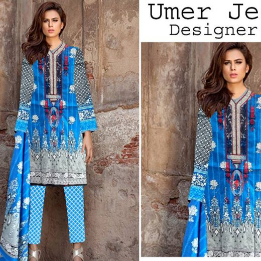 Umer Jee Lawn Collection 2018