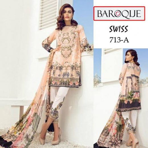 Baroque Lawn Suit 2018