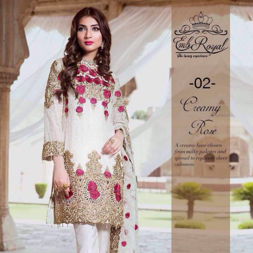 Royal Emb Chiffon Collection 2018