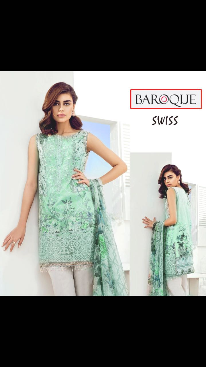 Barooque Lawn Collection 2018