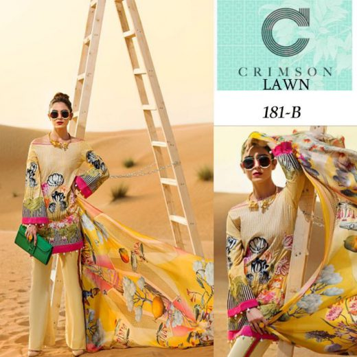 Crimson Lawn Collection 2018