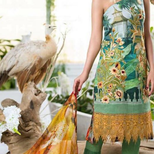 Asifa Nabeel Lawn Collection 2018