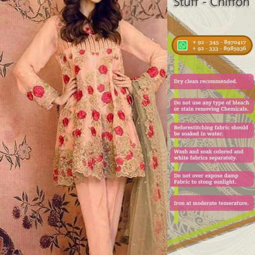 Serena Party Wear chiffon Collection 2018