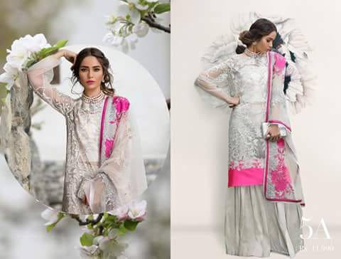 Sana Safinaz Net Collection 2018
