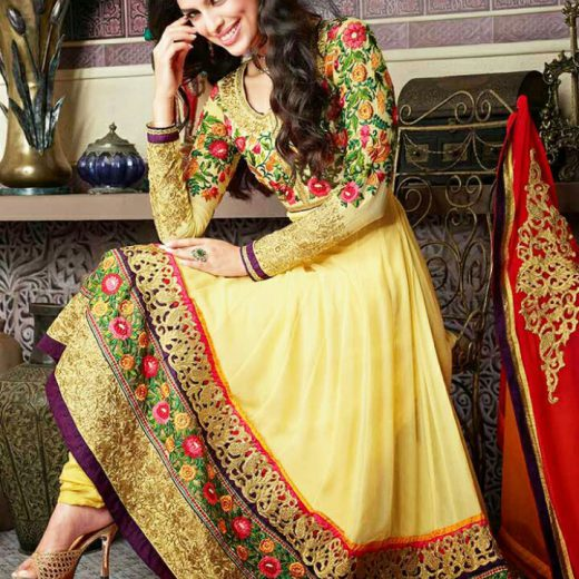 Latest Bridal Mehndi Suit 2018
