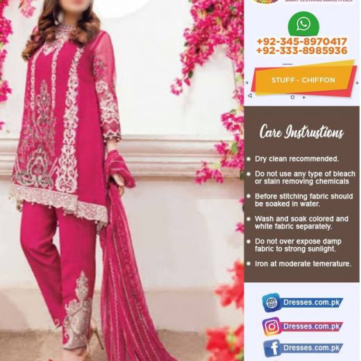 Imrozia Latest Chiffon Suit 2018