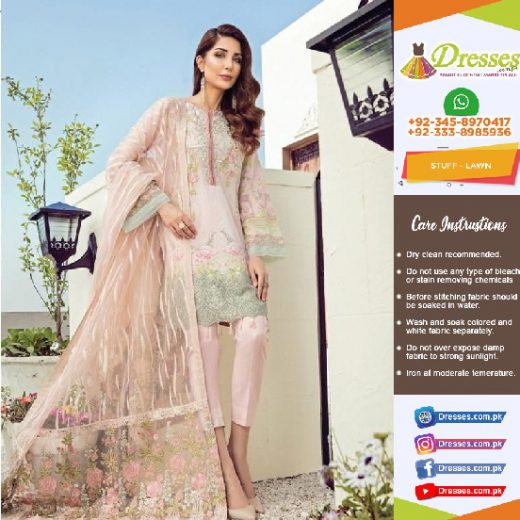 Baroque Jazmin Lawn Suit Collection 2018