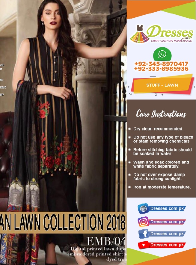 Mahiymaan Lawn Suit Collection 2018