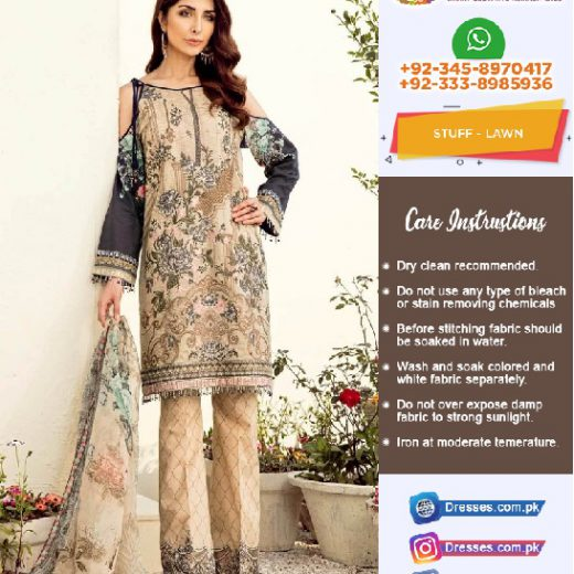 Baroque Jazmine Lawn Collection 2018