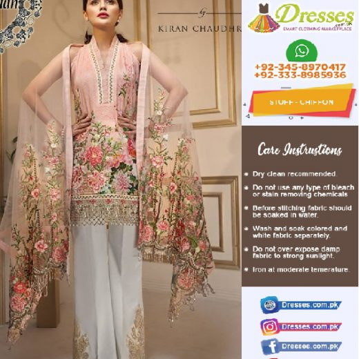 Anaya By Kiran Chaudary Chiffon Eid Collection 2018