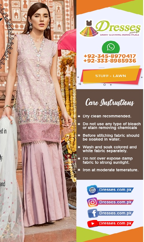 Asifa & Nabeel Lawn Collection 2018