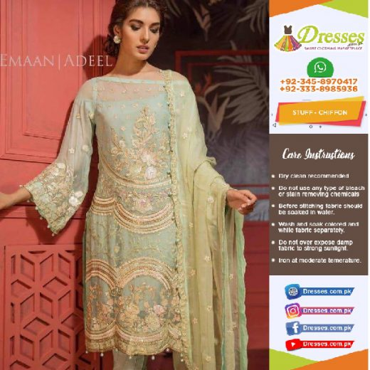 Emaan Adeel Chiffon Collection 2018