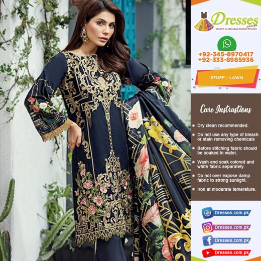 Baroque Jazmin Lawn Collection 2018
