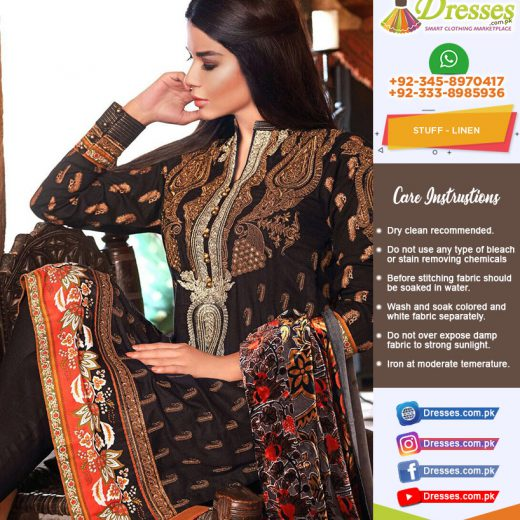 Gul Ahmed Linen Collection 2018