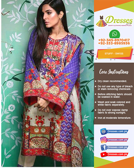 Ethnic Swiss Lawn Collection 2018