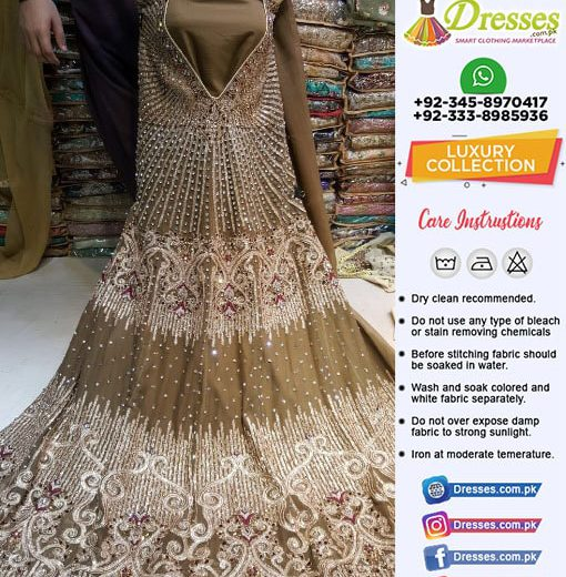 Pakistani Party Wear Frock 2018