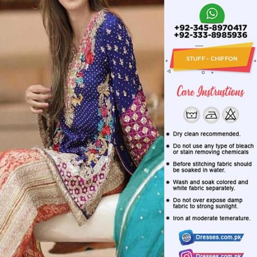AL Haram Latest Chiffon Suit 2019