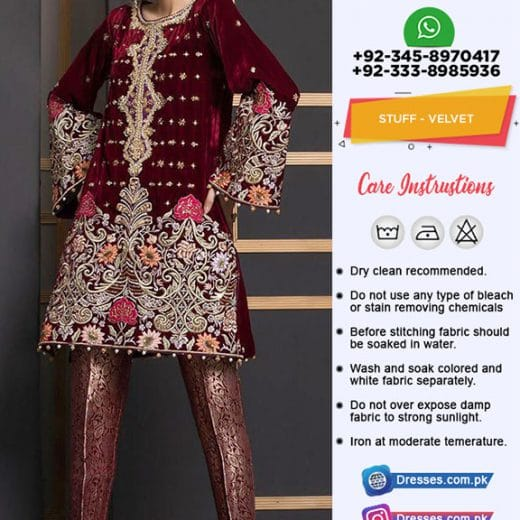 Anus Abrar Velvet Collection 2018
