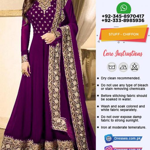 Indian Chiffon Frock Collection 2019