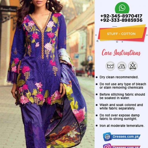 Mina Hasan Latest Cotton Suit 2019