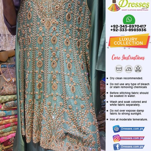 Pakistani Fancy Dresses with Stone and Marble Pearls
