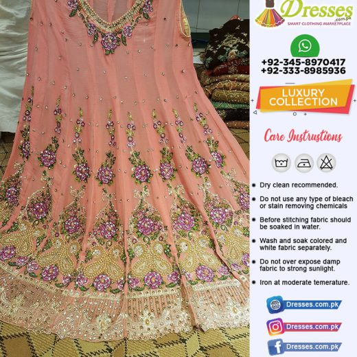 Pakistani Heavy Embroidered Party Wear Dress 2018