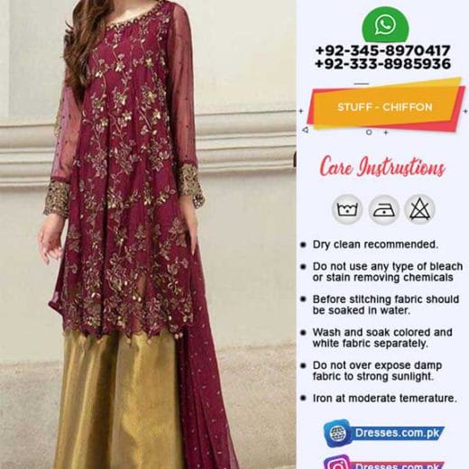 Maria B Latest Chiffon Suit 2019